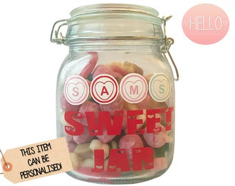 Personalise your own Sweet Jar (Sweets included)