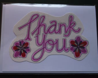 Handmade card- Thank you