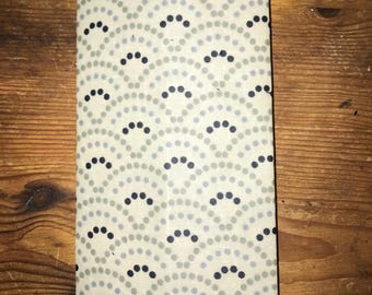 LARGE Reusable Beeswax Food Wrap White Cloud Grey 30cm x 30cm Eco Friendly
