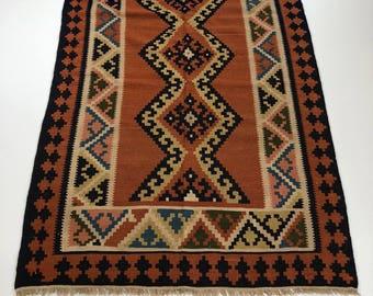 """001360 Oriental Kilim Persian 4'1""""X5'1"""""""