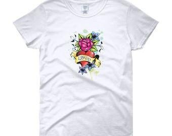 Rose Love Women's short sleeve t-shirt