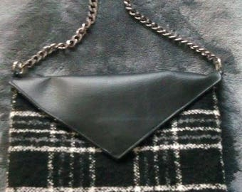 Black and white wool bag
