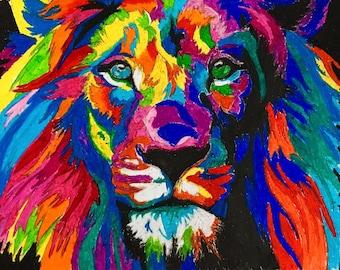 Fierce Colourful Lion