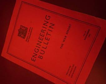 Ww2 engineering bulletin booklet