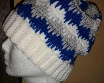 White Band Eyelash winter hat