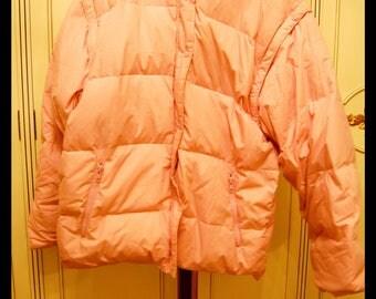 Pastel Pink 80s Down Jacket