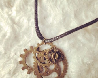 Necklace Steampunk gears