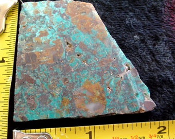 New Mexico TURQUOISE on RHYOLITE Stone Slab; Item #1316