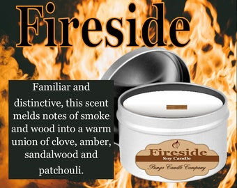 Fireside Scented Soy Candle Tin (8 oz.)