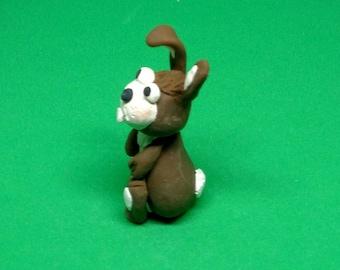 Cute Little Rabbit Figurine Polymer Clay