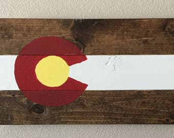 Stained Colorado Flag Wood Pallet Kit