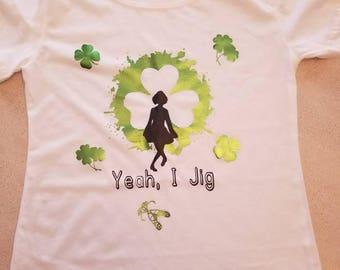 Irish dancing t-shirt for women or girls