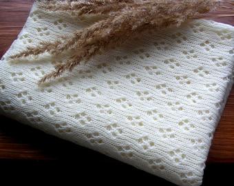 Baby beige blanket Swaddle blanket Chunky blanket Teal baby blanket Knitted newborn Baby blanket knit Knit blanket Blanket crib Baby quilt