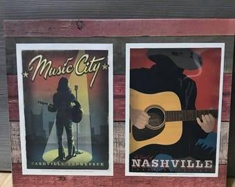 Nashville, Music City Hanging Wall Art Plaque