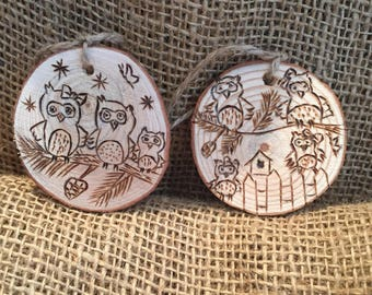 Owl/Nature Inspired Ornaments