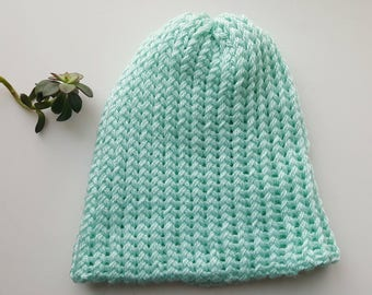 Adult Women's Pastel Blue Beanie