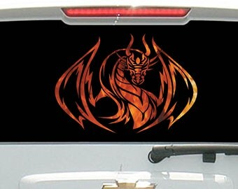 Fire Flames Tribal Dragon