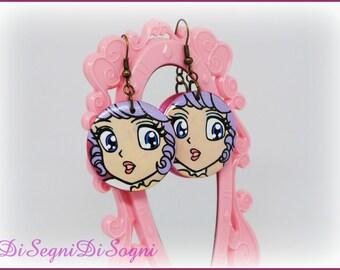 Creamy MAMI Earrings-hand Painted