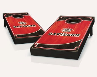 Davidson Wildcats Wood Cornhole Set with Bags