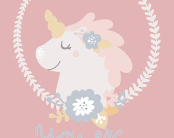 YOU ARE MAGICAL _ Unicorn Art Print _ Instant Download