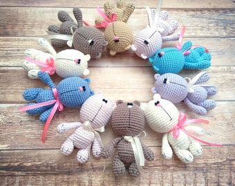 Crochet bear , Knitted bear, Amigurumi bear toy , Teddy bear toy , little bear , crocheted teddy bear , plush bear , cute bear toy , bears