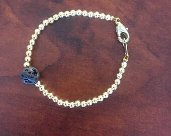 Gold Essential Oil Diffusing Bracelet