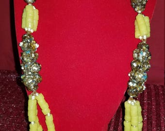Yellow Stone Bead