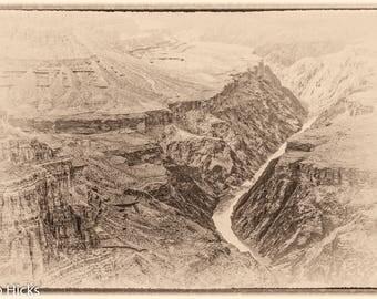 Grand Canyon #6 Sepia