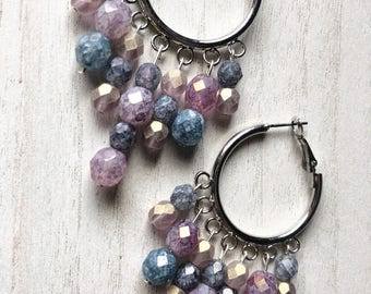 Czech Bead Hoop Earrings