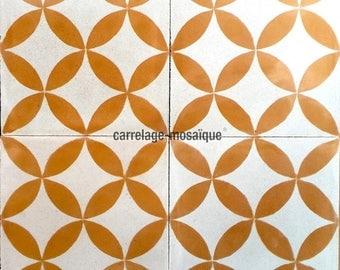 Cement Sampa Orange Plaid