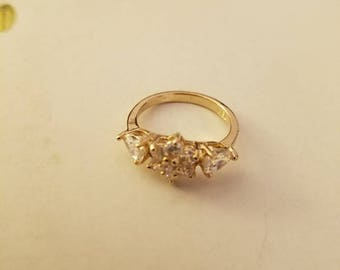 14kt Gold filled multistone ring