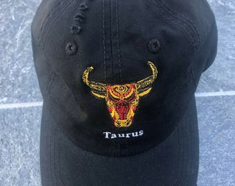 Taurus Zodiac Sign Embroidered Dad Hat