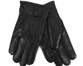 Outcrews Men's Genuine Leather Winter Gloves W/ Soft Acrylic Lining Cold Weather Gloves