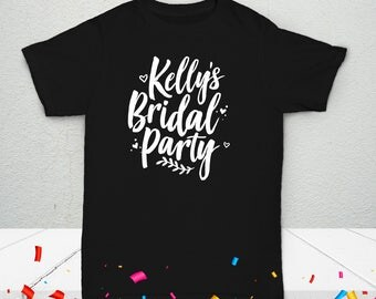 Adult Wedding Bridal Squad Personalized T-Shirt - Celebration Custom Tees