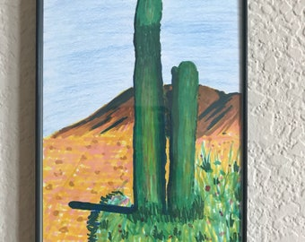 Saguaro in Arizona (size 4 by 6inches)