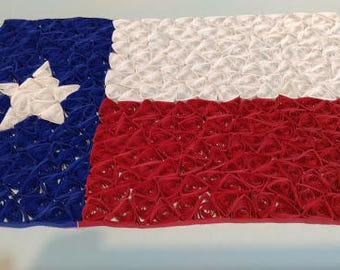 Quilled Texas Flag