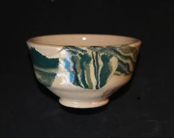 Ceramic tea  cup 14 Mokume gane