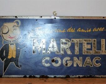 Metal advertising cognac Martell