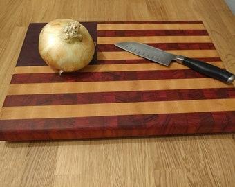 American Flag Endgrain Cutting Board