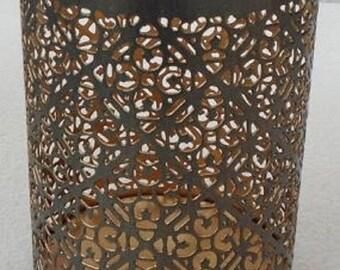 Tea light, lantern, zinc, ornament