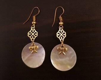 Earrings Golden chic Pearl