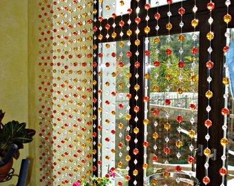Clear beads curtain 10 threads , 200cm