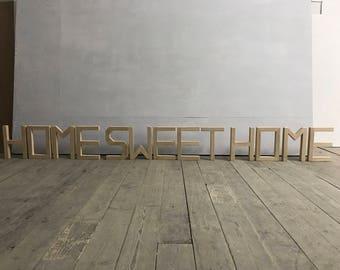 HOME SWEETHOME oak letters handmade