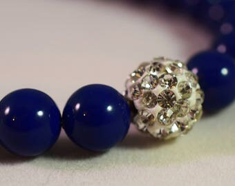 Dark Lapis Crystal Pearls
