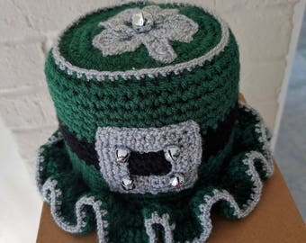 Irish Toilet Paper Tissue Cover Roll Hat Bathroom Decor Shamrock St. Patrick's Day A