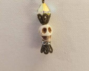 Steampunk Drop Earrings - Skeleton Steam Punk Halloween