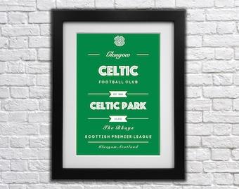 Glasgow Celtic FC Club Print