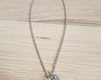 Unicorn necklace with letter L