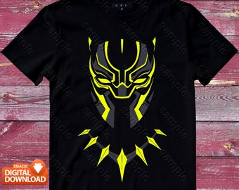 Black Panther Iron On Transfer, Black Panther Shirt Designs, Black Panther Printable, Black Panther, Personalize, Digital Files