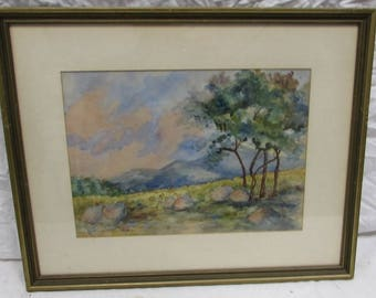 Meadow in the Mountain original watercolor by Grace G Murphy